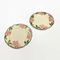 "Franciscan Desert Rose Set 2 Dinner Plates 10 5/8"" Vintage Made California USA"
