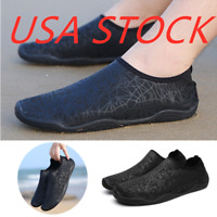 Mens Water Shoes Barefoot/Minimalist Lightweight Black Athletic Sneakers Soft US