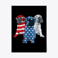 "4th Of July Bullmastiff Lover Gift Poster - 18""x24"""