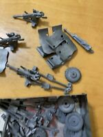Large lot Replacement parts meta hand painted  army sets cannons wheels    C1f