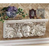 Cathedral Cherub Sculptural Italian Style Design Toscano 20 Inch Wide Wall Shelf