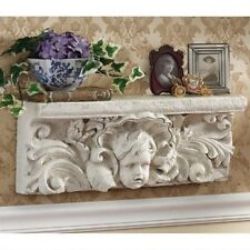 Cathedral Cherub Sculptural Italian Style Design Toscano 20 Inch Wide Wall Shelf