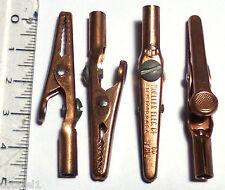 4 pinces croco Mueller US series 60 pour fiche banane ou vissable en cuivre