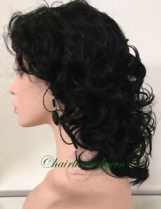 Black Wig Short Curly Layered Heat Resistant Ok Premium Synthetic