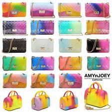 Multicolored Jelly 2-Way Shoulder Bag Crossbody Purses