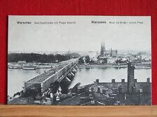 Fotokarte - Warschau / Warszawa - Weichselbrücke / Most na Wisle - dat 1914   m1