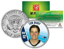 TOM BRADY Colorized JFK Half Dollar US Coin NFL Patriots * OFFICIALLY LICENSED *