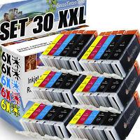 30x XXL PATRONEN für CANON PIXMA IP7250 MG5450 MG5550 MG5655 MG6450 MX725 MX925
