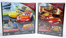 Disney Pixar Cars 3 Risky Raceway  & Thunder Hollow Mud Madness Board Game