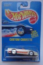 1992 Hot Wheels Custom Corvette Col. #200 (Ultra Hot Wheels)New Paint Style Card