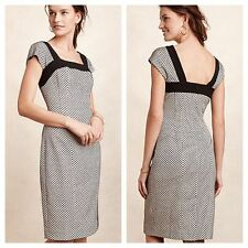 ANTHROPOLOGIE HD In Paris NWT Enid Sheath Dress Black & White Sz 8 Fits 6 $158