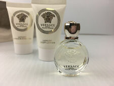VERSACE EROS POUR FEMME 3PC MINI GIFT SET PERFUME+ LOTION + S G NEW IN cb78d4f2bae