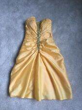 Lemon And Diamanté Prom Dress - Size 4/6
