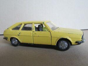 967Q 1975'S Norev Jet Car 856 France Renault 30 TS R30 Jaune 1:43