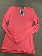 Cherry couture peach coloured long sleeve t shirt, age 9-10