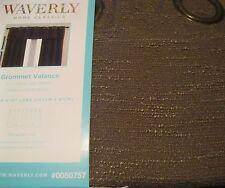 Waverly Drape Curtain Chocolate Brown CIRRUS Rod Pocket Panel + tie backs 84L