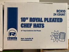 "10"" Royal Pleated Chef Hats"