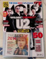 MOJO Magazine & CD January 2015 U2 FIGHT BACK The WHO Mod Explosion JOHNNY MARR