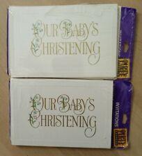Set of 2 Packs Christening Invitation-6 Invitations Each Pack
