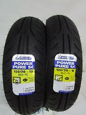 COPPIA GOMME MICHELIN POWER PURE SC 2CT 120/70-15 150/70-13 YAMAHA X-MAX 400