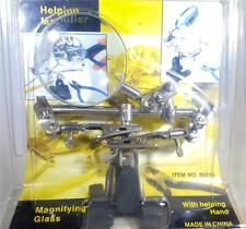 HELPING HANDS MAGNIFIER GLASS WITH CLIPS HOLD AND MAGNIFY SMALL DETAILED WORK