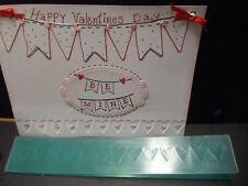 Deep sculpted HEARTS BORDER - EXTRA LONG - embossing folder + Stampin Up bonus