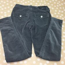 Womens True Religion Misty grey velvet skinny jeans pants Size 24 $198