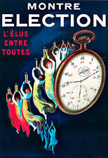 Art Ad Montre Election Watch Fob Watch Deco Poster Print