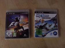 2 PS3 Spiele: My Sims - Sky Heroes + F1 - 2010 Formula 1 - Spielepaket