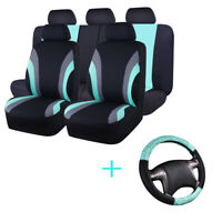 Universal Car Seat Covers & Steering Wheel Cover Black Mint Airbag For Holden VW