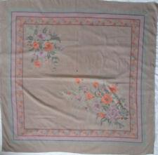 Superbe châle  CONCA  100 % soie TBEG  vintage scarf 120 x 120 cm