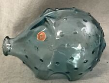 Holmegaard Glass Piggy Bank Jacob Bang Partial Label