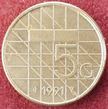 Netherlands 5 Gulden 1991 (D2004)