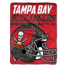 "New NFL Tampa Bay Buccaneers Soft Micro Rasche Large Throw Blanket 46"" X 60"""
