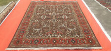 8'x10' New Hand knotted Wool Red Antiqued Turkish Kilim Oushak Oriental area rug