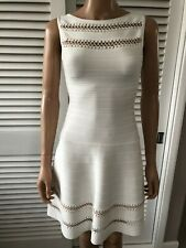 Herve Lerger 100% Genuine XS UK6 White Bandage Dress worn once perfect condition