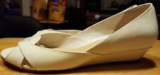 """Cole Haan pumps wedges for women 1 1/4"""" heel ivory size 8 1/2-B patent leather"""