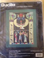 RARE Land of the Pharaohs counted cross stitch kit, Bucilla  1996 sealed