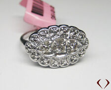 Antique Look 3 Stone with Large Frame Ring 14KT