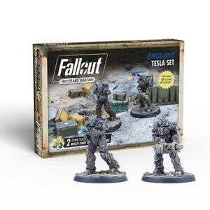 Fallout Wasteland Warfare Miniatures Enclave tesla Set Brand New & Sealed