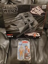 Star Wars: the Black Series Snowspeeder AND Luke Skywalker pilot NM+ New sealed