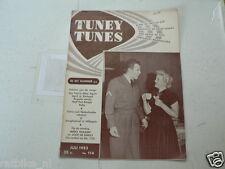 1953 NO 114 TUNEY TUNES MUSIC MIEKE TELKAMP,JOOP DE KNEGT COVER,M. LANZA,CLOONEY