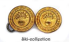 2 Boutons/ Button- GENDARMERIE CANTON DE VAUD. Suisse/ Switzerland. 16 mm