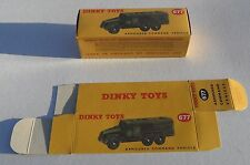High Quality Reproduction Dinky Military Boxes - 677 Armoured Command Vehicle