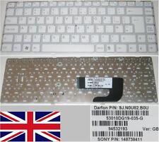 Clavier Qwerty UK SONY VAIO Vgn-Nw 53010DG19-035-G 9J.N0Q82.B0U 148738411 Blanc