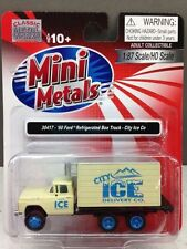 Classic Metal Works #30417 1960 Ford Refrigerated Box Truck - City Ice  HO