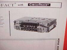 1967 CHRYSLER 300 PLYMOUTH BARRACUDA CUDA DODGE DART AM-FM RADIO SERVICE MANUAL
