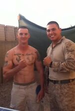 Shirtless Male Military Studs Tattoos Hunk Duo Outdoors PHOTO 4X6 C1058