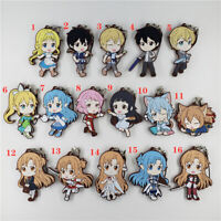 Anime sword art online rubber keychain KeyRing Race Straps cosplay