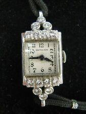 Vintage Hamilton 911 17j Platinum & Diamond Ladies Wrist Watch *APPRAISED $1900*
